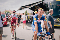 Philippe Gilbert (BEL/Quick Step floors) post-race<br /> <br /> Stage 1: Noirmoutier-en-l'&Icirc;le &gt; Fontenay-le-Comte (189km)<br /> <br /> Le Grand D&eacute;part 2018<br /> 105th Tour de France 2018<br /> &copy;kramon