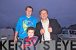 'Feirm Factor' contestant Freddy Browne with his sons Freddy and Andrew pictured last Sunday night as part of the annual Harvest Festival.