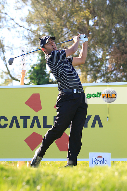 Pablo Larrazabal (ESP) on the 13th tee during Thursday's Round 1 of The Open De Espana at The PGA Catalunya Resort. 15th May 2014.<br /> Picture:  Thos Caffrey / www.golffile.ie