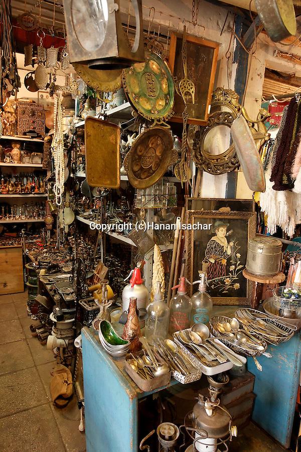 Israel, Tel Aviv-Yafo. Flea market in Jaffa
