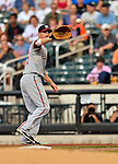 24 July 2012: Washington Nationals first baseman Adam LaRoche in action against the New York Mets at Citi Field in Flushing, NY. The Nationals defeated the Mets 5-2 to take the second game of their 3-game series. Mandatory Credit: Ed Wolfstein Photo