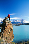 Hiker, Torres del Paine National Park, Chile
