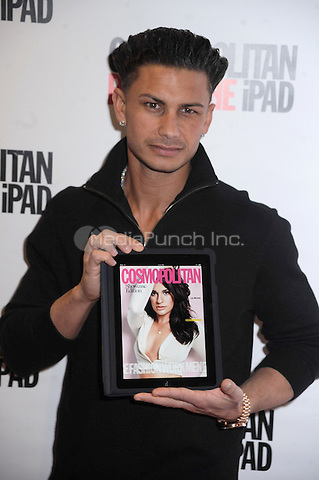 DJ Pauly D of MTV's Jersey Shore at the launch of Cosmopolitan Magazine's new iPad application at District 36  in New York City.  March 23, 2011 Credit: Dennis Van Tine/MediaPunch