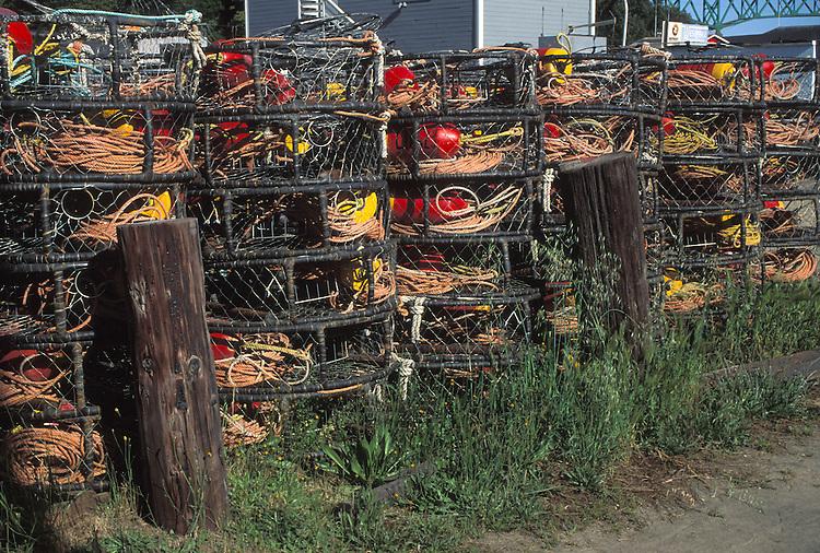 Crab Traps at Noyo Harbor, Fort Bragg California