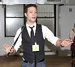 Justin Guarini attending the Rehearsal for the Bucks County Playhouse production of 'It's a Wonderful Life - A Live Radio Play' at their rehearsal studios in New York City on December 5, 2012.