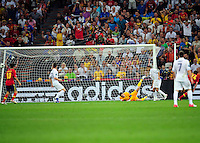 Goal Xabi Alonso    - 23.06.2012 - Espagne / France -1/4 Finale Euro 2012 .Photo : Mathieu Louet / Icon Sport.