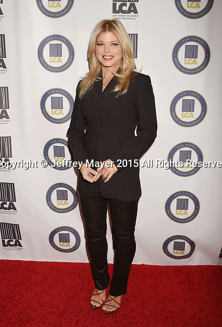 BEVERLY HILLS, CA - OCTOBER 24: Actress Donna D'Errico attends the Last Chance for Animals Benefit Gala at The Beverly Hilton Hotel on October 24, 2015 in Beverly Hills, California.