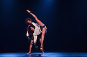 London, UK. 29.05.2012. Danza Contemporanea de Cuba open at Sadler's Wells after a six week tour. The cast performs in Sombrisa by Itzik Galili. Picture shows Yelda Leyva and Yosmell Calderon.