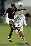 7 November 2007: Boston College's Kia McNeill (6) heads the ball away from Florida State's Sanna Talonen (25). Florida State University defeated Boston College 1-0 at the Disney Wide World of Sports complex in Orlando, FL in an Atlantic Coast Conference tournament quarterfinal match.