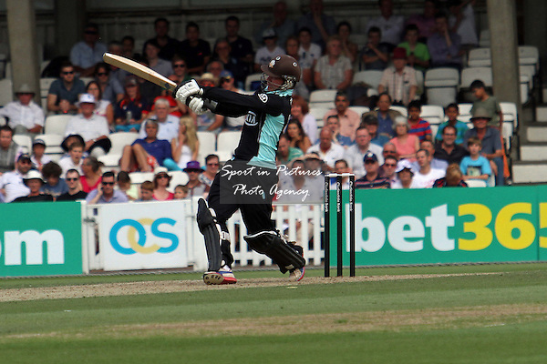Rory Burns pulls a shot for six  - Middlesex CCC v Durham CCC. Yorkshire Bank 40 Group B. The KIA Oval. London. Surrey. 02/08/2013. MANDATORY Credit Robert Smith/SIPPA - NO UNAUTHORISED USE - 07837 394578
