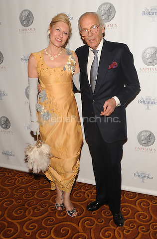 New York,NY-JUNE 02:Lori Eustis, Lewis Lapham attends Lapham's Quarterly Decades Ball: The 1870s at Gotham Hall In New York City on June 2, 2014. Credit: John Palmer/MediaPunch
