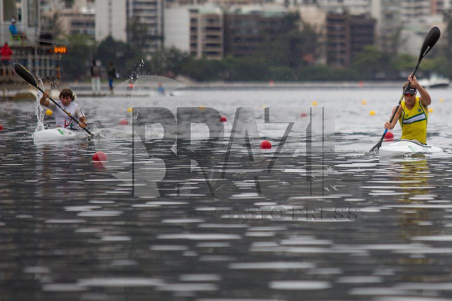 RIO DE JANEIRO, RJ, 05.09.2015 - CANOAGEM-LAGOA - Desafio Internacional de Canoagem Velocidade, evento-teste para os Jogos Olímpicos Rio 2016, realizado na Lagoa Rodrigo de Freitas, zona sul da cidade do Rio de Janeiro, neste sábado, 5.  (Foto: Gustavo Serebrenick / Brazil Photo Press)