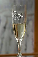 glass of sparkling cremant dom pfister dahlenheim alsace france