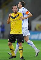 Fussball, 2. Bundesliga, Saison 2011/12, SG Dynamo Dresden - Vfl Bochum, Montag (12.09.11), gluecksgas Stadion, Dresden. Dresdens Maik Kegel gestikulierend.
