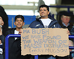 Bolton fans display an anti Megson banner during the Premier League match at the Reebok Stadium, Bolton. Picture date 12th April 2008. Picture credit should read: Simon Bellis/Sportimage