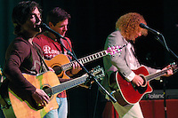 Chris and Eric Reading, originally from San Diego, perform with musican Dru Buchan at Dana Middle School in Point Loma, Thursday March 27th 2008.  The show is the first one of the Tour 4 Cure series and Chris Reading Scholarship Fund.