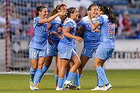 Bridgeview, IL - Saturday June 18, 2016: Chicago Red Stars during a regular season National Women's Soccer League (NWSL) match between the Chicago Red Stars and the Boston Breakers at Toyota Park.