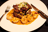 BELIZE, Hopkins, surf and turf served at Chef Rob's Gourmet Cafe