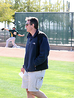Billy Beane / Oakland Athletics..Photo by:  Bill Mitchell/Four Seam Images