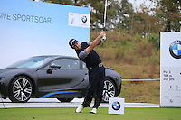 Graeme McDowell (NIR) tees off the 17th tee during Wednesday's Pro-Am Day of the 2014 BMW Masters held at Lake Malaren, Shanghai, China 29th October 2014.<br /> Picture: Eoin Clarke www.golffile.ie