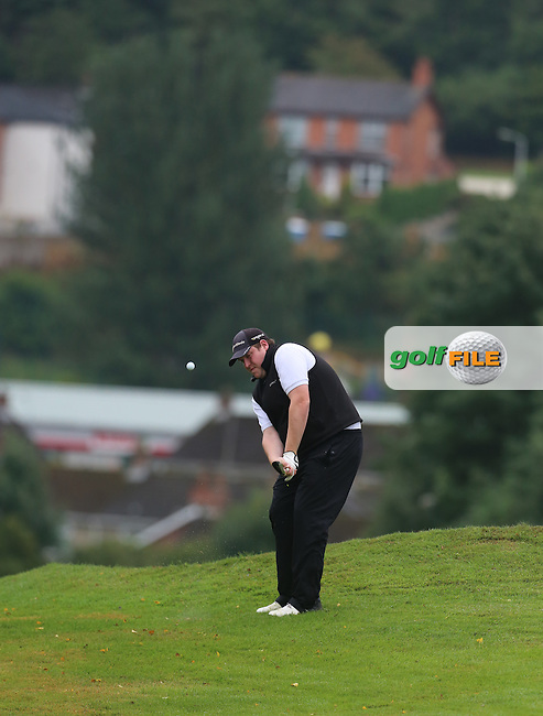 Peter Doherty (Strabane) during the Ulster Mixed Foursomes Final, Shandon Park Golf Club, Belfast. 19/08/2016<br /> <br /> Picture Jenny Matthews / Golffile.ie<br /> <br /> All photo usage must carry mandatory copyright credit (© Golffile | Jenny Matthews)