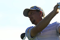 Marcel Siem (GER) tees off the 14th tee during Thursday's Round 1 of the 2016 Portugal Masters held at the Oceanico Victoria Golf Course, Vilamoura, Algarve, Portugal. 19th October 2016.<br /> Picture: Eoin Clarke   Golffile<br /> <br /> <br /> All photos usage must carry mandatory copyright credit (© Golffile   Eoin Clarke)