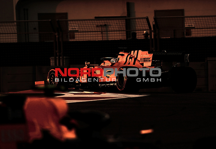 30.11.2019, Yas Marina Circuit, Abu Dhabi, FORMULA 1 ETIHAD AIRWAYS ABU DHABI GRAND PRIX 2019<br />, im Bild<br />Sebastian Vettel (GER#5), Scuderia Ferrari Mission Winnow<br /> <br /> Foto © nordphoto / Bratic