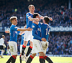 Haris Vuckic celebrates his goal for Rangers with Kenny Miller, Andy Murdoch and Nicky Clark