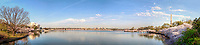 Cherry Blossoms Jefferson Memorial Washington Monument Tidal Basin Washington DC Panorama