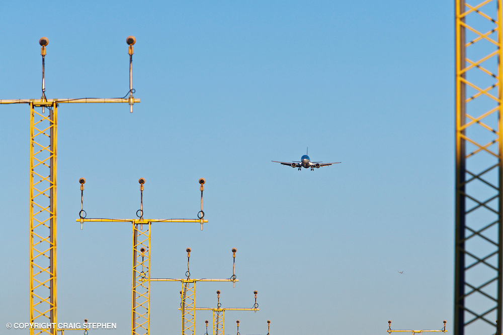Plane and landing lights | Perth photographers Scotland | Commercial
