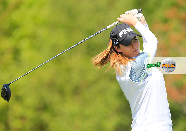 Karen O'Neill (Douglas) on the 7th tee during Round 1 of the Irish Women's Open Strokeplay Championship at Dun Laoghaire Golf Club on Saturday 23rd May 2015.<br /> Picture:  Thos Caffrey / www.golffile.ie