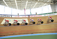 CALI - COLOMBIA - 14-01-2015:  Entrenamiento en el Velodromo Alcides Nieto Patiño, sede de la III Copa Mundo UCI de Pista de Cali 2014-2015  /  Training at the Alcides Nieto Patiño Velodrome, home of the III Cali Track World Cup 2014-2015 UCI. Photos: VizzorImage / Luis Ramirez / Staff.