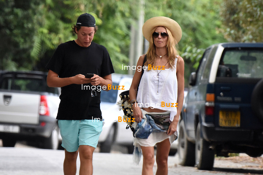 Heidi Klum and boyfriend Vito Schnabel strolling in Saint Barths while vacationing aboard a yacht.<br /> Saint Barths, 30 December 2014