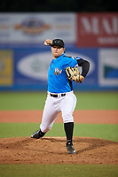 Hudson Valley Renegades relief pitcher Jack Labosky (14) delivers a pitch during a game against the Tri-City ValleyCats on August 24, 2018 at Dutchess Stadium in Wappingers Falls, New York.  Hudson Valley defeated Tri-City 4-0.  (Mike Janes/Four Seam Images)