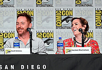 SAN DIEGO COMIC-CON© 2019:  L-R: 20th Century Fox Television's AMERICAN DAD Cast Members Scott Grimes and Rachael MacFarlane during the AMERICAN DAD panel on Saturday, July 20 at the SAN DIEGO COMIC-CON© 2019. CR: Frank Micelotta/20th Century Fox Television