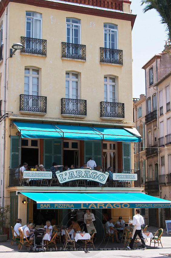 cafe. Perpignan, Roussillon, France.