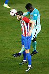Atletico de Madrid's Yannick Ferreira Carrasco (l) and FC Barcelona's Samuel Umtiti during Spanish Kings Cup semifinal 1st leg match. February 01,2017. (ALTERPHOTOS/Acero)