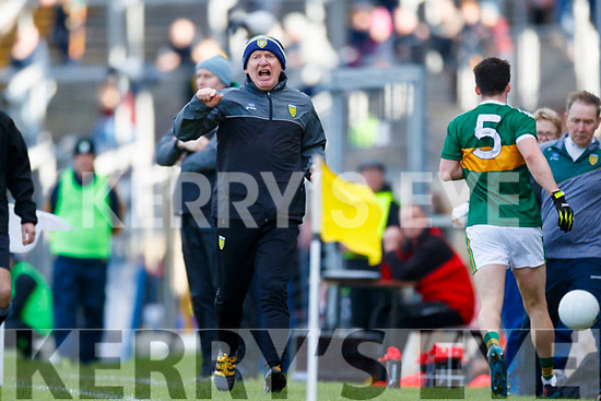 Donegal Manager Declan Bonner in the Allianz Football League Division 1 Round 1 match between Kerry and Donegal at Fitzgerald Stadium in Killarney, Co. Kerry.