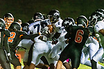 WATERTOWN, CT. 11 October 2019-101119BS393 - Ansonia quarterback Sheldon Schuler #2, center, runs with ball on a quarterback keeper for a touchdown, during a NVL game of the unbeaten between Ansonia and Watertown at Watertown High School on Friday. Bill Shettle Republican-American
