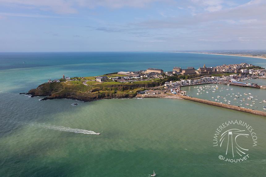 FRANCE, Manche (50), Granville (vue aérienne)