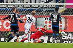 05.10.2019, Benteler Arena, Paderborn, GER, 1.FBL, SC Paderborn 07 vs 1. FSV Mainz 05<br /> <br /> DFL REGULATIONS PROHIBIT ANY USE OF PHOTOGRAPHS AS IMAGE SEQUENCES AND/OR QUASI-VIDEO.<br /> <br /> im Bild / picture shows<br /> Jonathan Burkardt (FSV Mainz 05 #29), <br /> Leopold Zingerle (Paderborn #17), <br /> <br /> Foto © nordphoto / Ewert