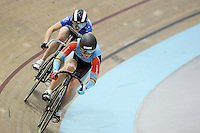 Australia's Anna Meares competing in the Women Sprint at the 2014 Oceania Track Championships, Sit Zero Fees Velodrome, Invercargill, New Zealand, Friday, November 22, 2013. Photo: Dianne Manson / NINZ