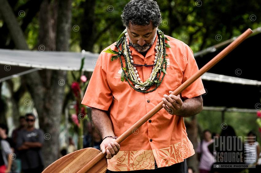 Arrival of Pacific voyaging canoes, Hakipu'u, O'ahu, on June 25, 2011.