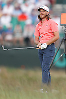 Tommy Fleetwood (ENG) tees off on the 17th hole during the third round of the 118th U.S. Open Championship at Shinnecock Hills Golf Club in Southampton, NY, USA. 16th June 2018.<br /> Picture: Golffile | Brian Spurlock<br /> <br /> <br /> All photo usage must carry mandatory copyright credit (&copy; Golffile | Brian Spurlock)