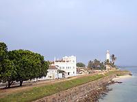 Galle Lighthouse and beachfont, Gelle, Sri Lanka