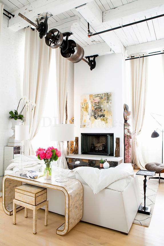Modern white sofa