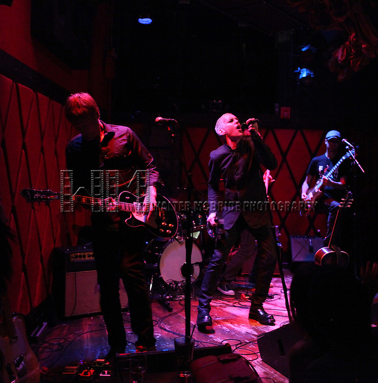 Tony Vincent and band performing on the main stage promoting his new EP 'In My Head' at Rockwood Music Hall in New York City on 7/23/2012.