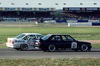 Final round of the 1991 British Touring Car Championship. #5 John Cleland (GBR). Vauxhall Sport. Vauxhall Cavalier. #2 David Leslie (GBR). Pyramid Motorsport. BMW M3.