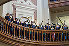 "Oct 11, 2014; ""Trumpets Under the Dome"" before the North Carolina game. (Photo by Matt Cashore)"