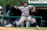 5 June 2010:  FIU's Bryam Garcia (44) pitches in the seventh inning as the Dartmouth Green Wave defeated the FIU Golden Panthers, 15-9, in Game 3 of the 2010 NCAA Coral Gables Regional at Alex Rodriguez Park in Coral Gables, Florida.